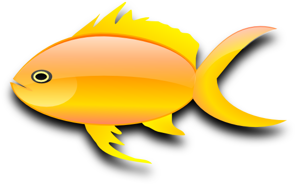 600x371 Goldfish Gold Fish Clip Art Black And White Free Clipart 2