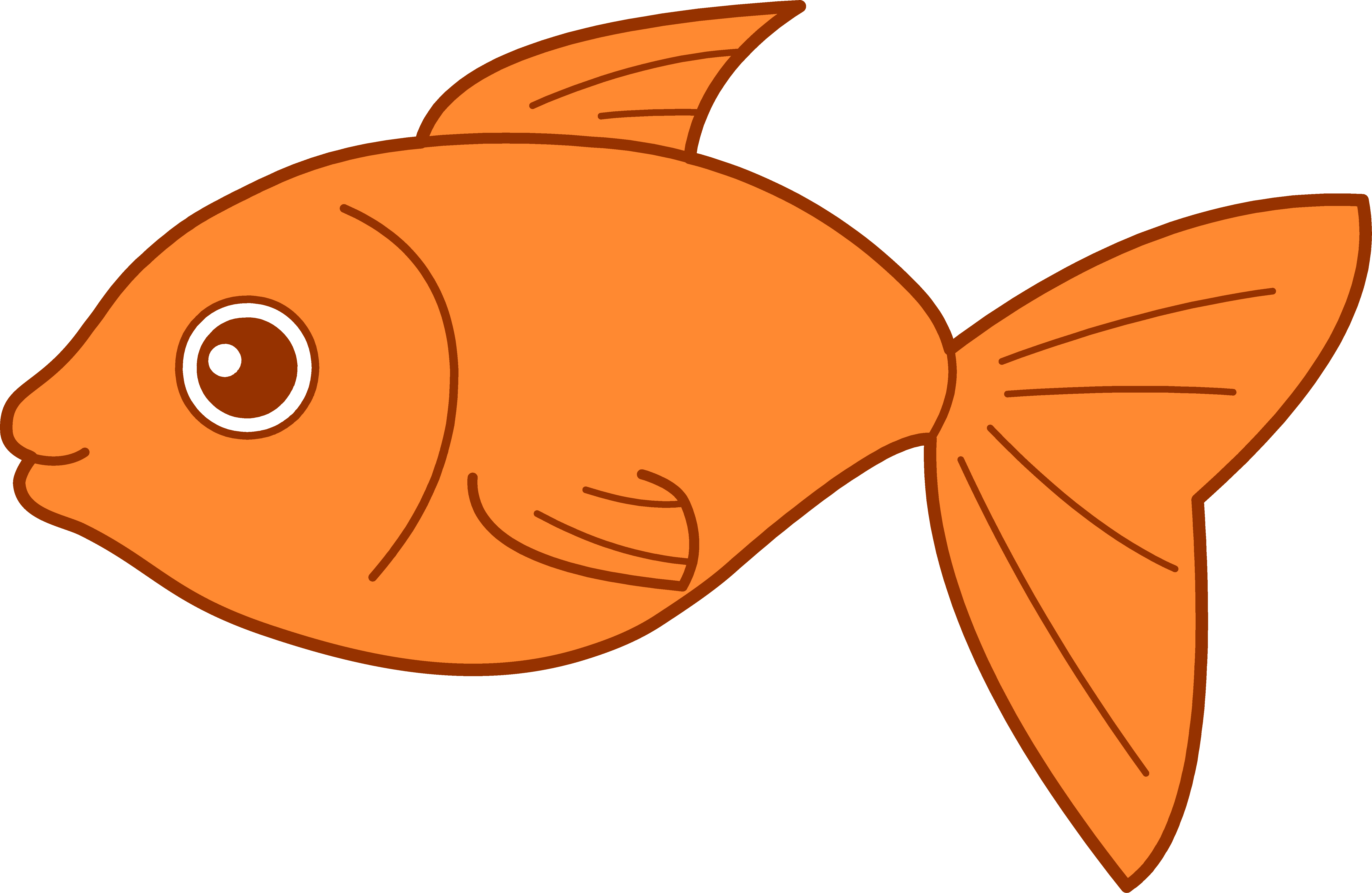 6805x4431 Tropical Fish Clipart Goldfish