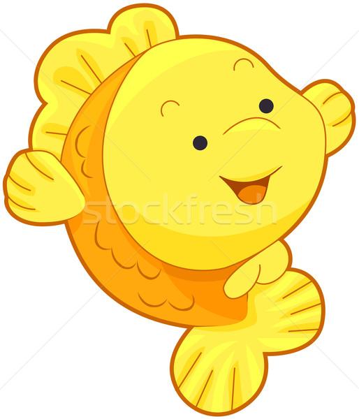514x600 Cute Gold Fish Vector Illustration Lenm ( 321768) Stockfresh
