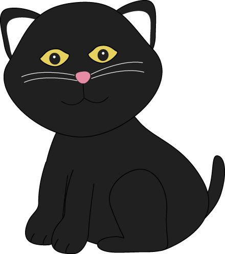440x496 Cute Halloween Black Cat Clip Art