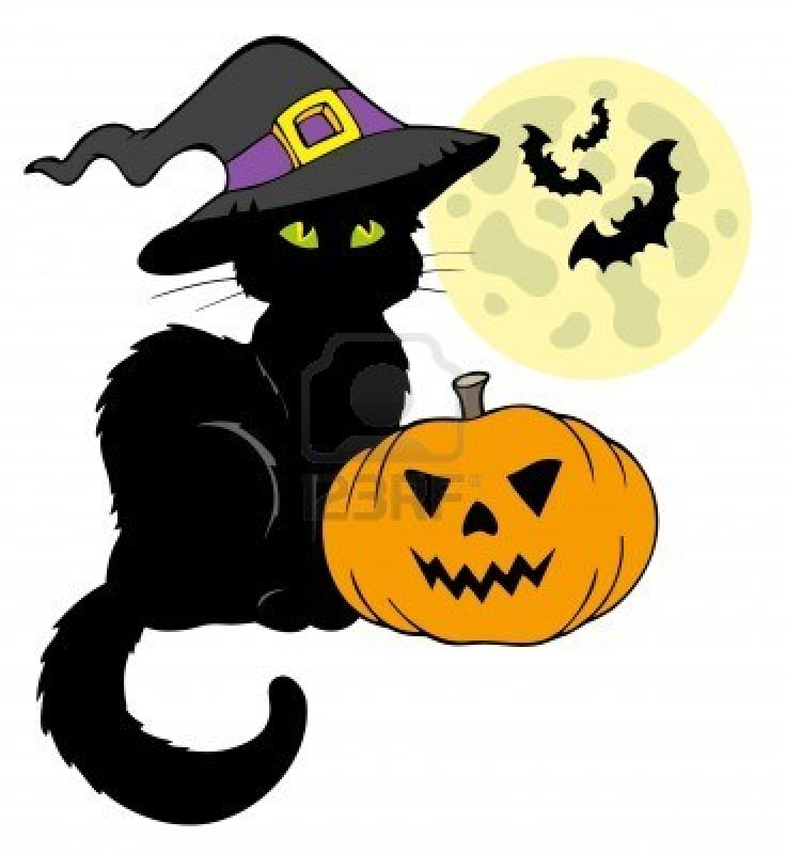 1104x1200 Cute Halloween Black Cat Clipart