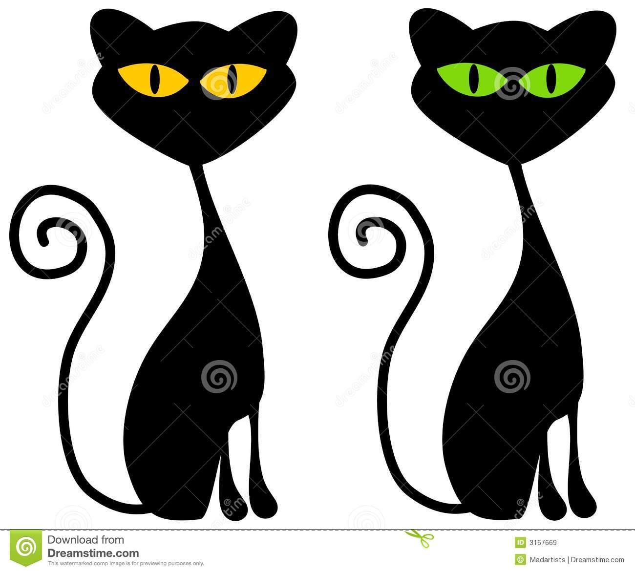 1300x1173 2 Black Cats Clipart