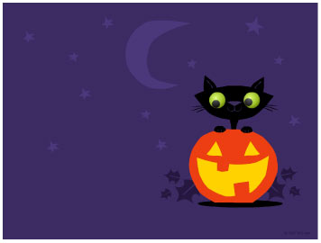 356x270 Free Desktop Wallpaper, Clip Art For Halloween Cat Lovers Band