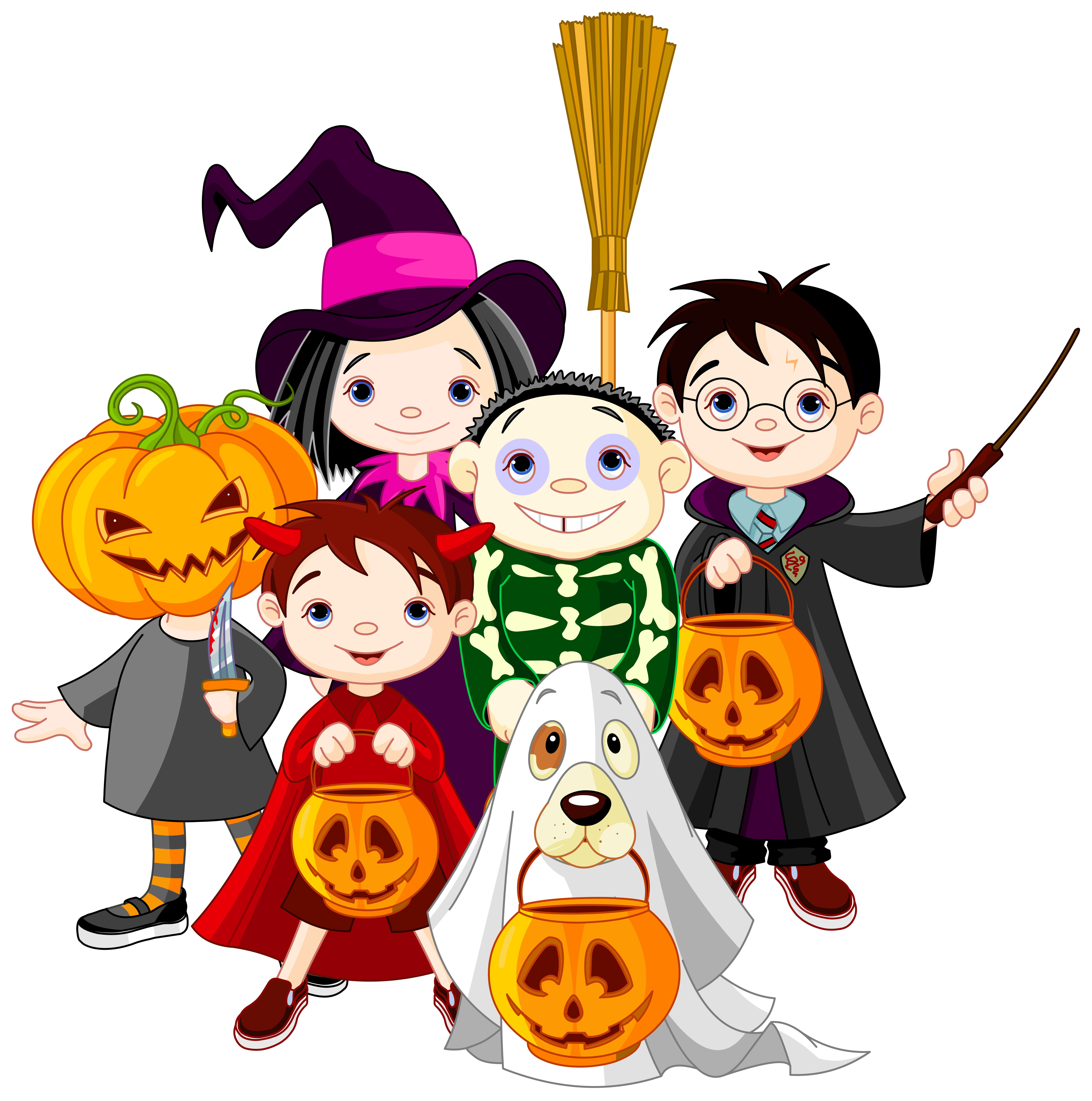 5068x5108 Clipart Halloween Kid