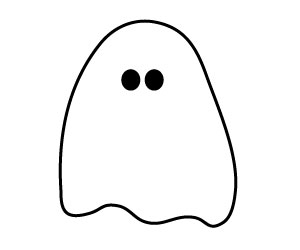300x250 Halloween Clip Art Black And White Ghost Clipart Panda