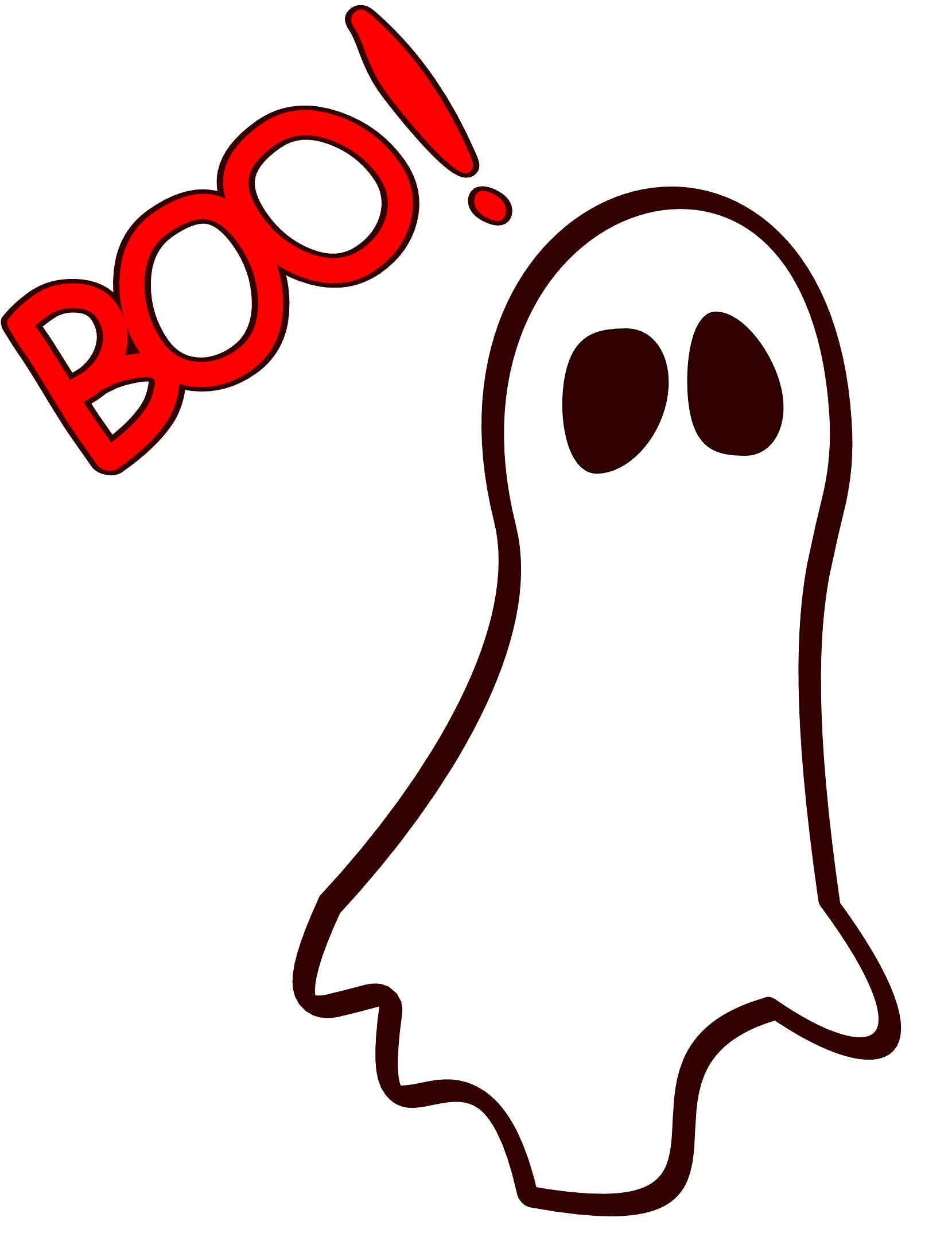 1659x2195 Boo Ghost Clipart
