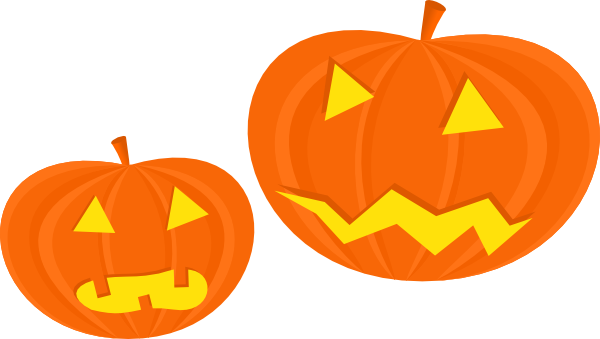 600x339 Two Cute Halloween Pumpkin Clipart