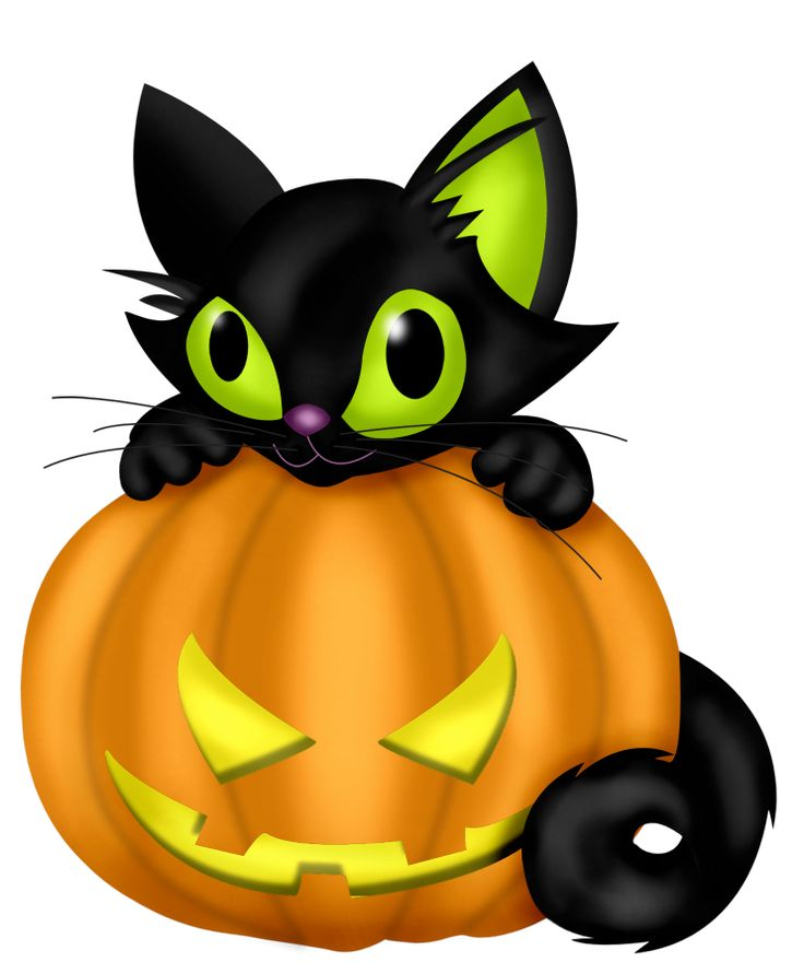 736x891 Cute Black And White Halloween Cat Clipart