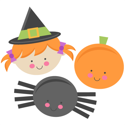 432x432 Cute Halloween Monsters Witch Pumpkin Spider Svg Scrapbook Cut