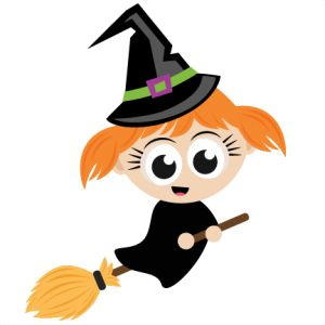 Cute Halloween Witch Clipart