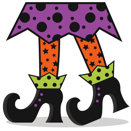 432x432 Halloween Witch Legs Clipart