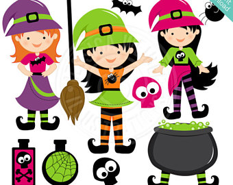 340x270 Witch Clipart Etsy
