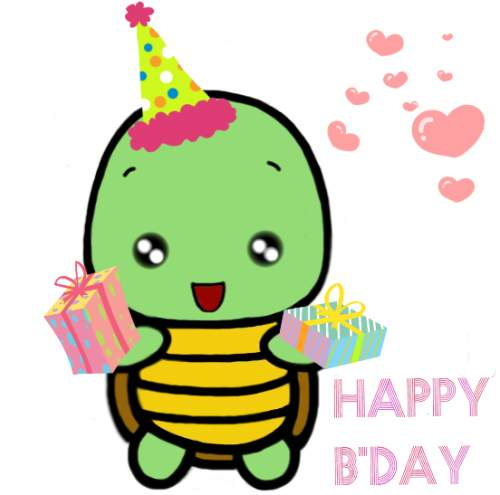 500x495 Happy Birthday With Cute Turtle Free Ecards 123