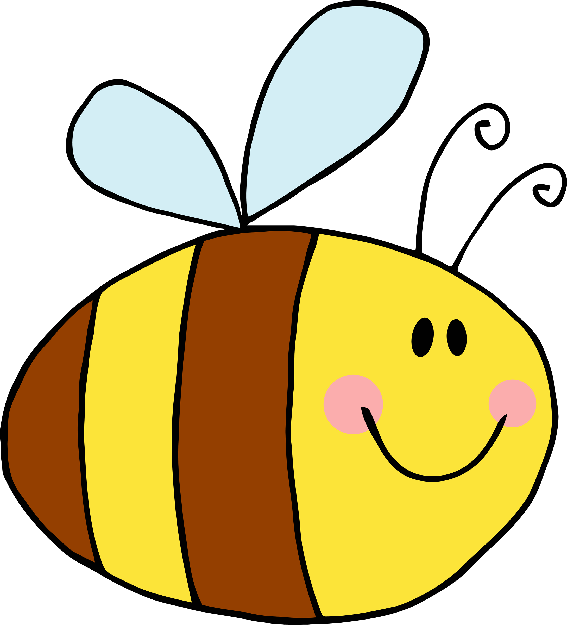 2178x2400 Free Cute Bee Clipart Image