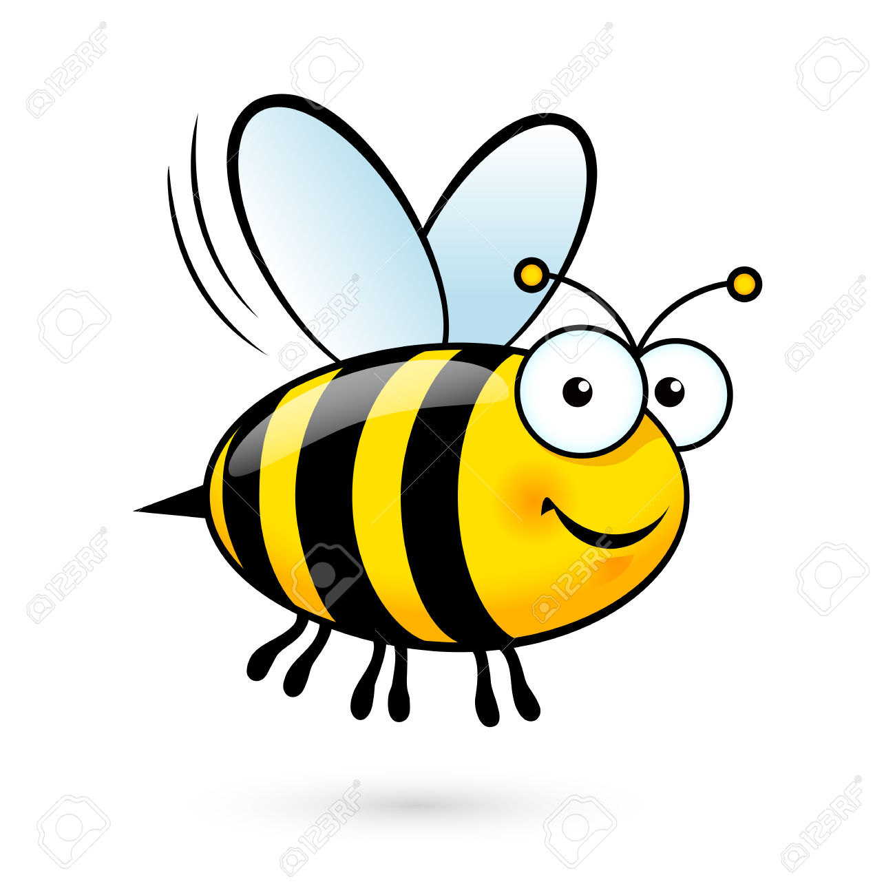 cute honey bee clipart