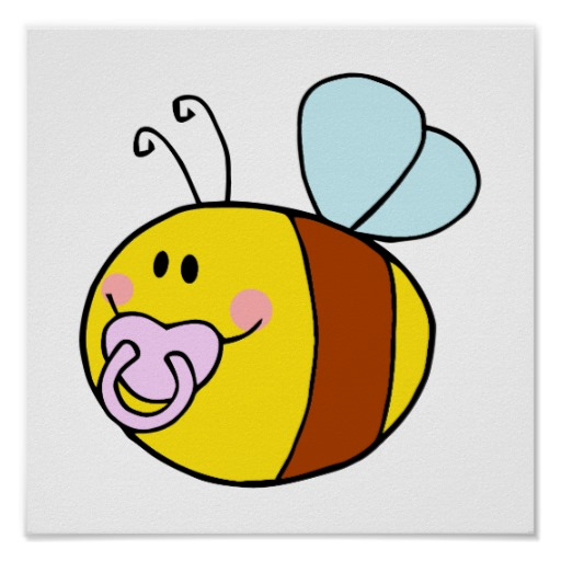 512x512 Baby Bumble Bee Clip Art Cute Baby Honey Bee With Pacifier