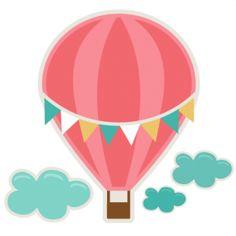 236x236 Cute Hot Air Balloon Clipart