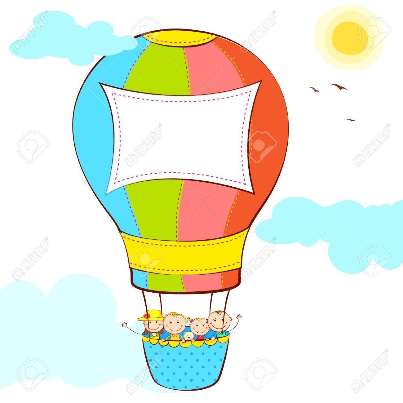 1300x1300 Flying Hot Air Balloon Clipart