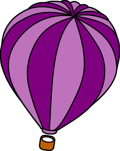 474x596 Hot Air Balloon Purple Vector