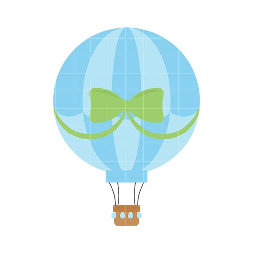 504x504 Hot Air Balloon Clipart Blue