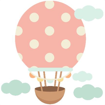432x432 Hot Air Balloon Cute Scrapbook Cuts Svg Cutting Files Doodle Cut