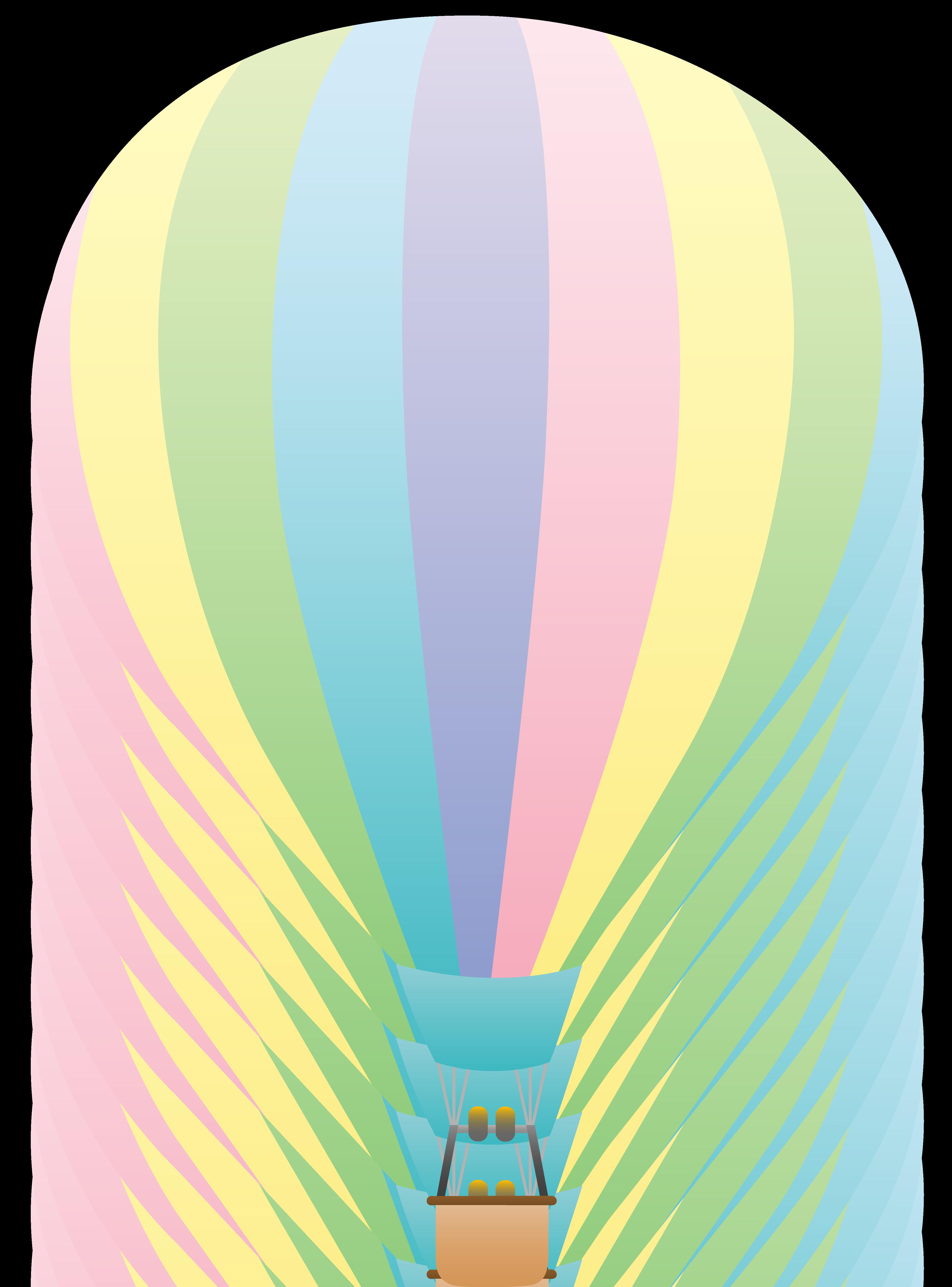 4114x5559 Pastel Rainbow Hot Air Balloon Clipart Panda