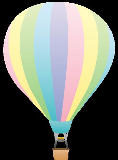 407x550 Pastel Rainbow Hot Air Balloon Hot Air Balloons