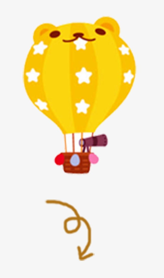 650x1099 Cute Hot Air Balloon, Balloon, Hot Air Balloon, Heaven Png Image