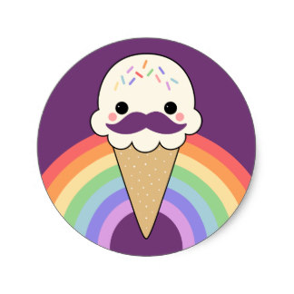 324x324 Cute Ice Cream Stickers Zazzle.co.uk