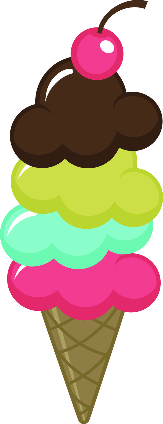564x1468 Ice cream cones cute clipart and on