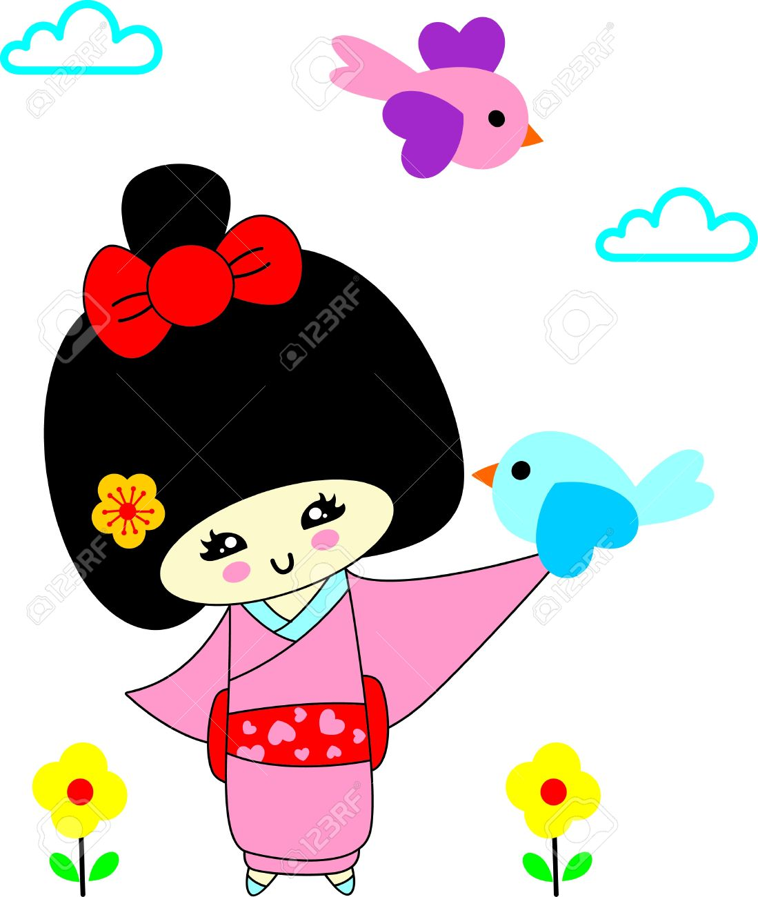 1099x1300 Geisha Clipart Japanese Child