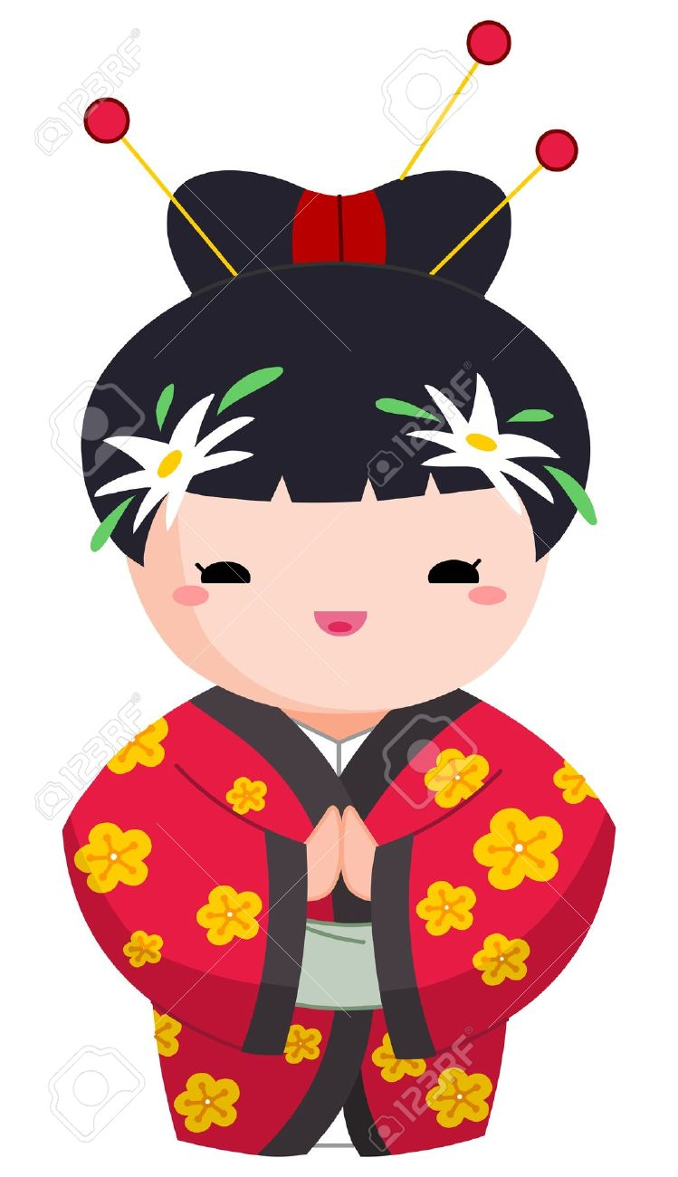 749x1300 Japanese Clipart Character