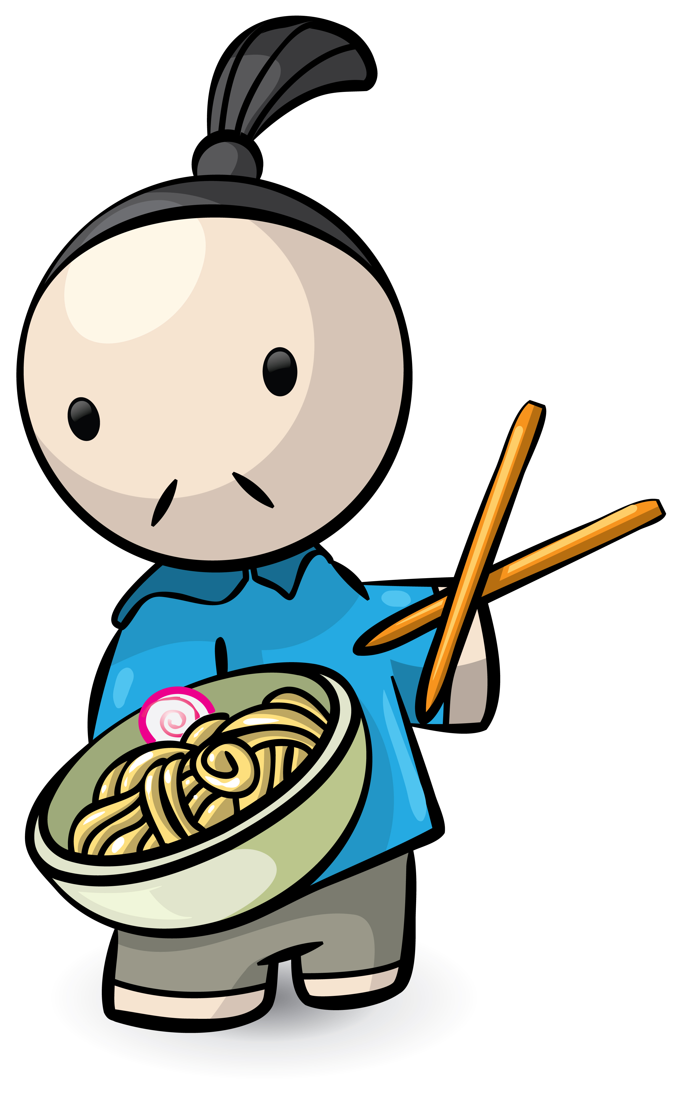 2652x4368 Noodle Clipart Japanese Person