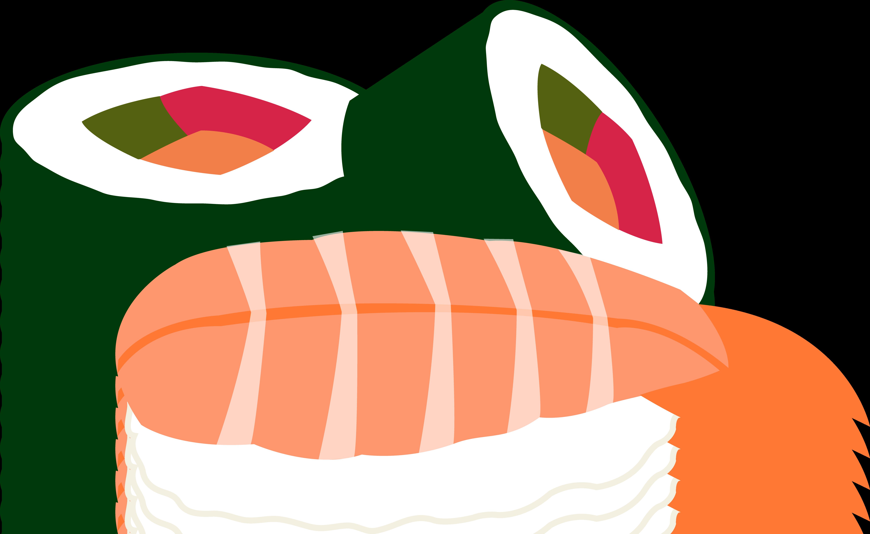 6002x3688 Sushi Clip Art