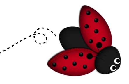 Spring ladybug. Cute clipart free download