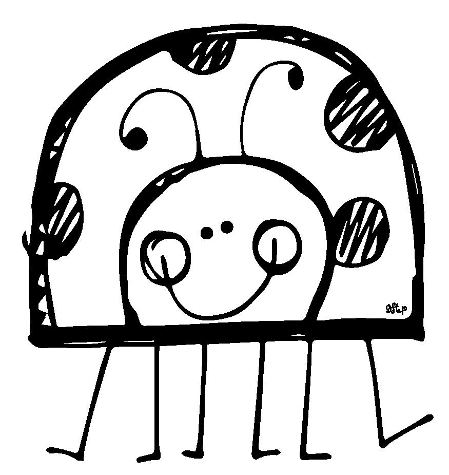 875x925 Ladybug Outline Cute Ladybug Black And White Clipart