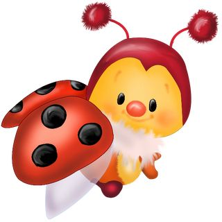 320x320 Cute Cartoon Ladybug Clipart
