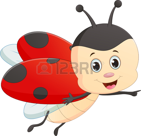 450x436 Cute Cartoon Ladybug With Red Mushroom Royalty Free Cliparts