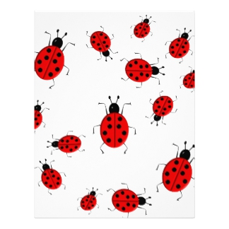 324x324 Cute Ladybug Letterhead Zazzle
