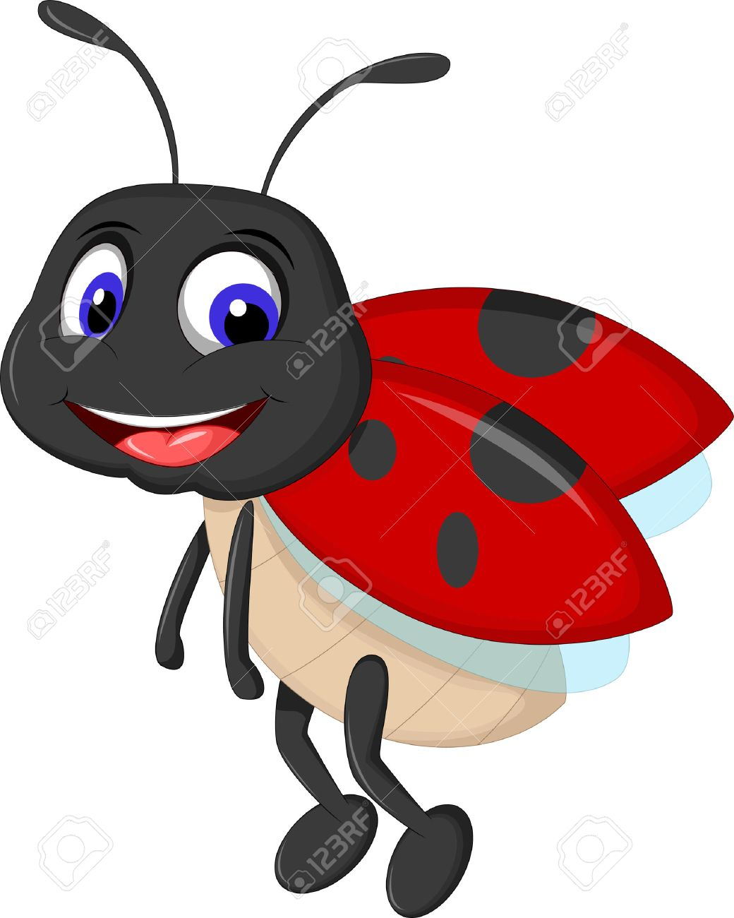 1040x1300 Cute Ladybugs Waving Cartoon Royalty Free Cliparts, Vectors,