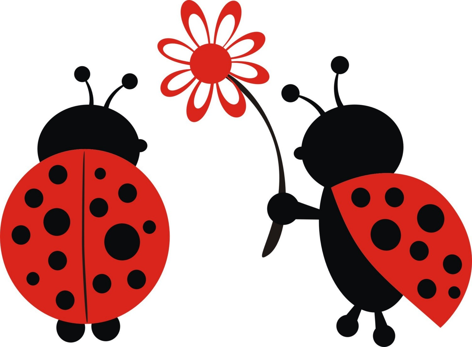 1500x1105 Cute Ladybugs Clipart