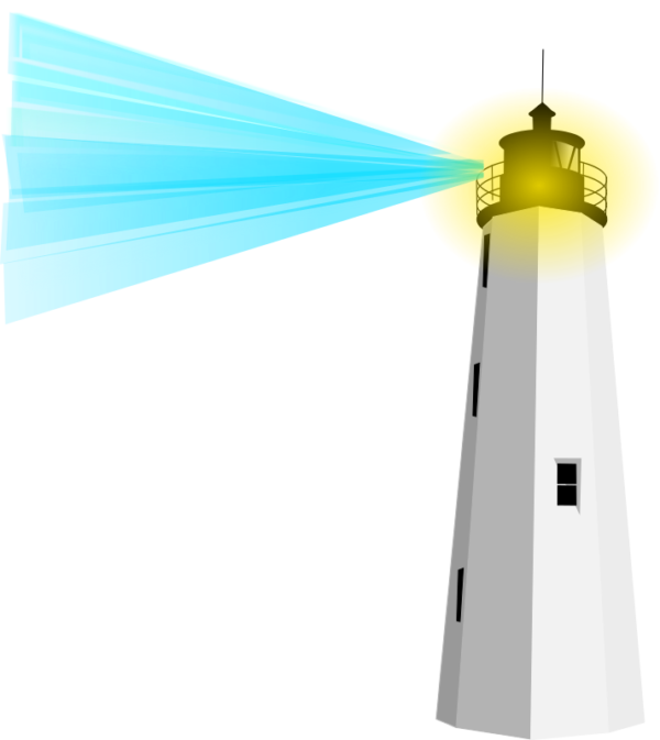 600x673 Free Cute Lighthouse Clipart Image