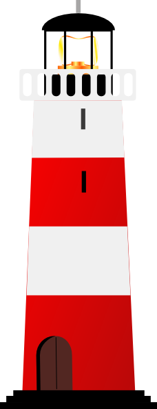228x592 Free Cute Lighthouse Clipart Image