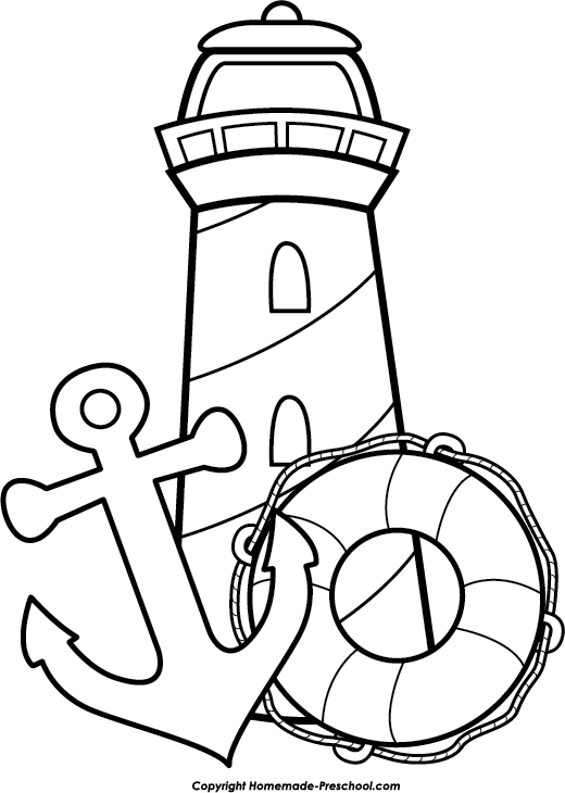 520x730 Lighthouse Clipart Kid