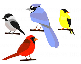 340x270 Cute Bird Clipart Birds Clip Art To Make Birthday Party