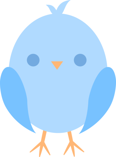 405x550 Cute Little Blue Easter Chick