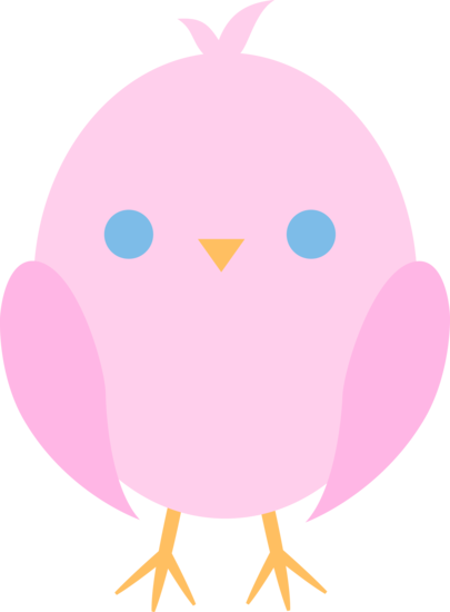 405x550 Cute Pink Easter Chick
