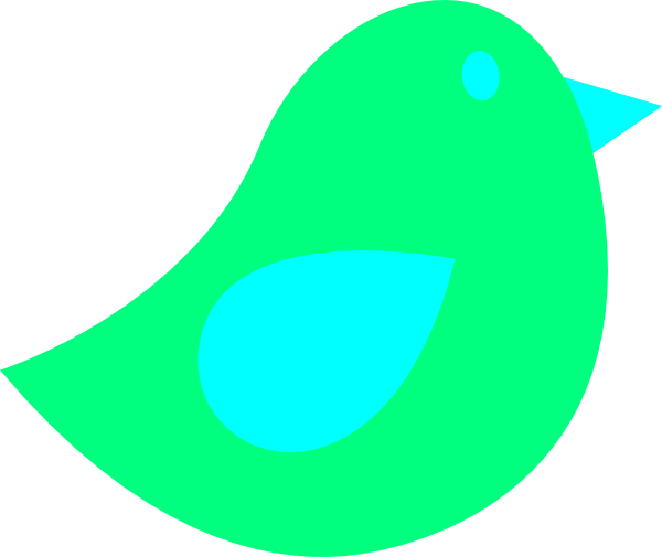 600x505 Green Little Bird Clip Art