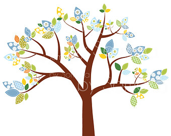 340x270 Items Similar To Sweet Bird And Tree Clipart Set With Cute Little