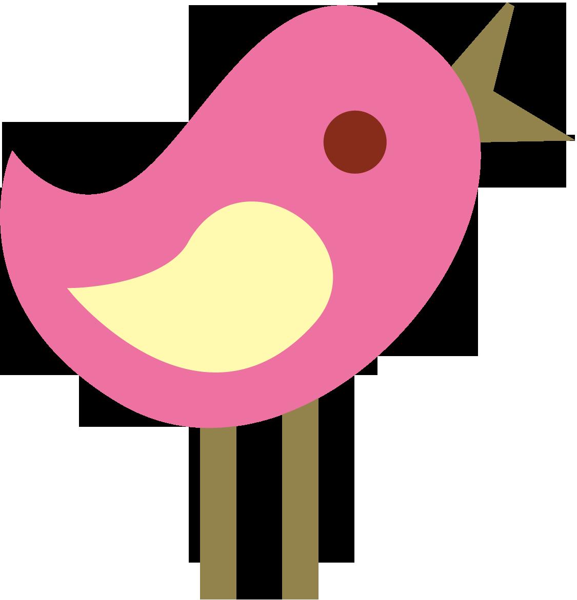 1125x1171 Pink Cute Bird Clipart